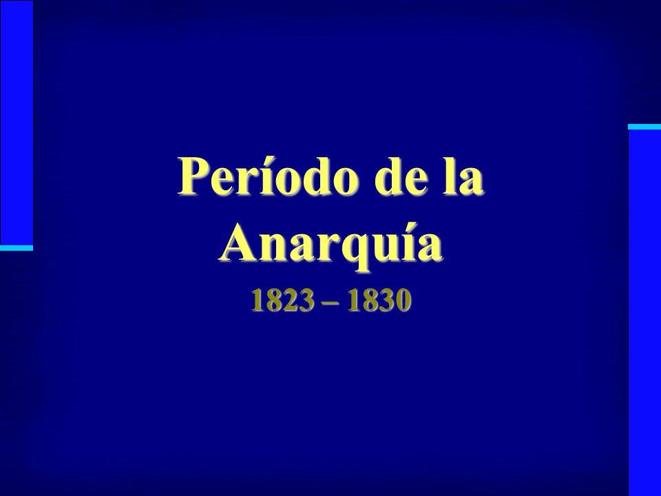 La Anarquía dura 7 años, desde que se va O Higgins hasta la batalla de Lircay en 1830.