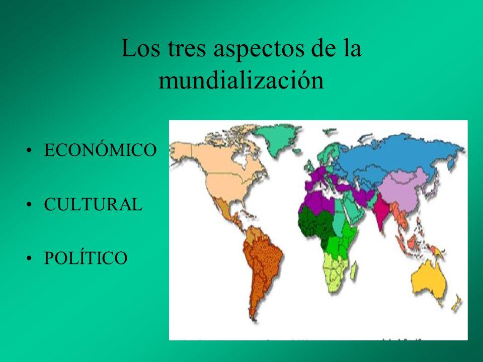 ECONÓMICO Denominado globalización.