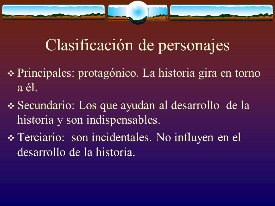 Tiempo narrativo Histórico: La época en qué se desarrolla la historia.
