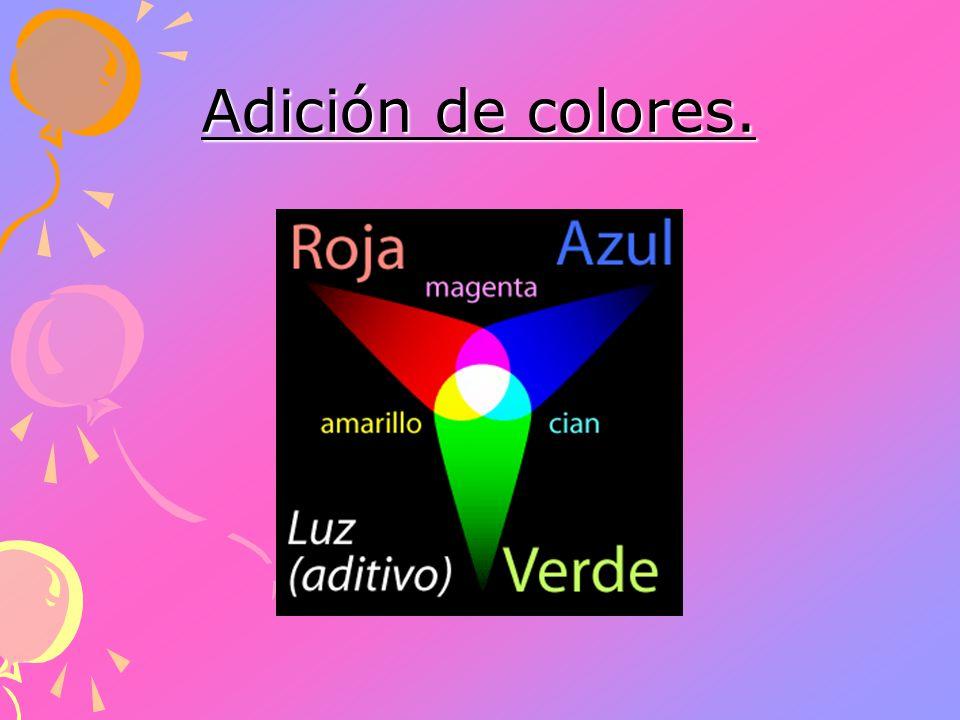 Adición de colores.