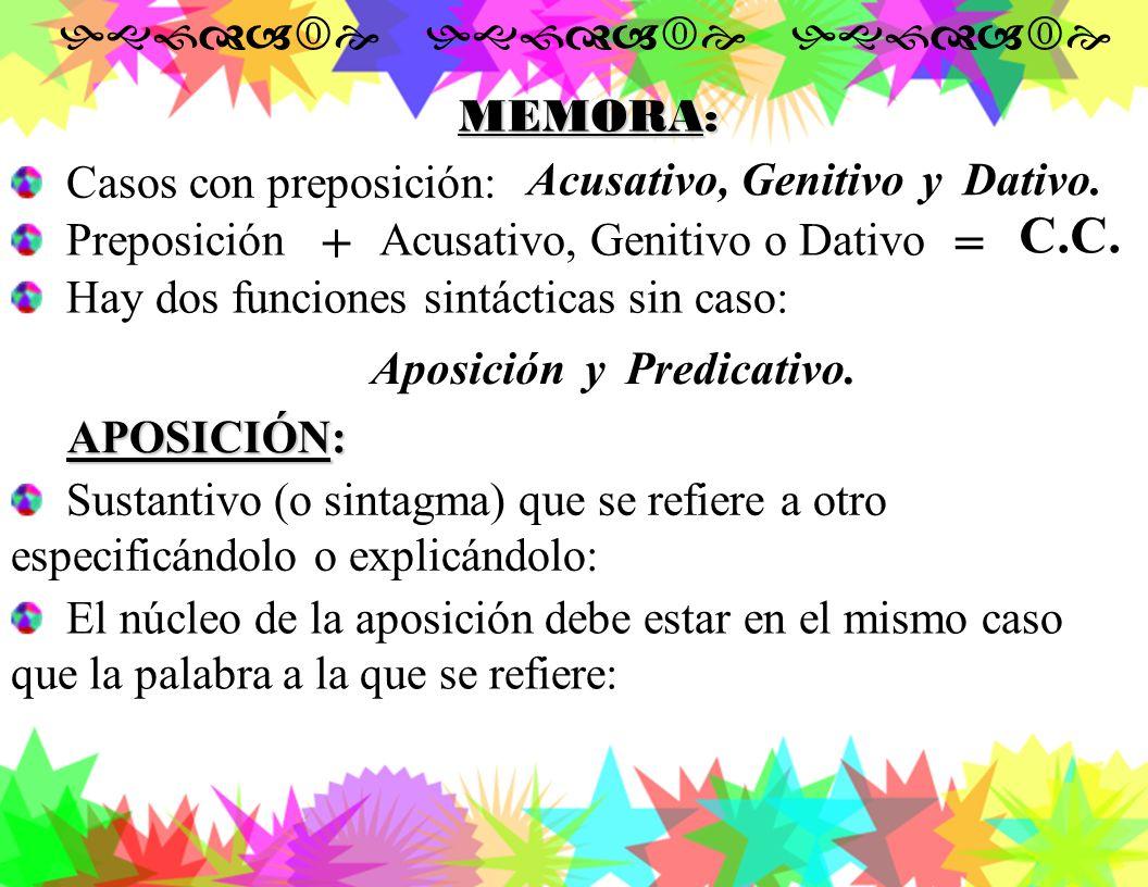 En Griego va con la preposición suvn. En Latín lleva la preposición cum. 4.- COMPLEMENTO CIRCUNSTANCIAL DE LUGAR EN DÓNDE (DATIVO-LOCATIVO): DE LUGAR