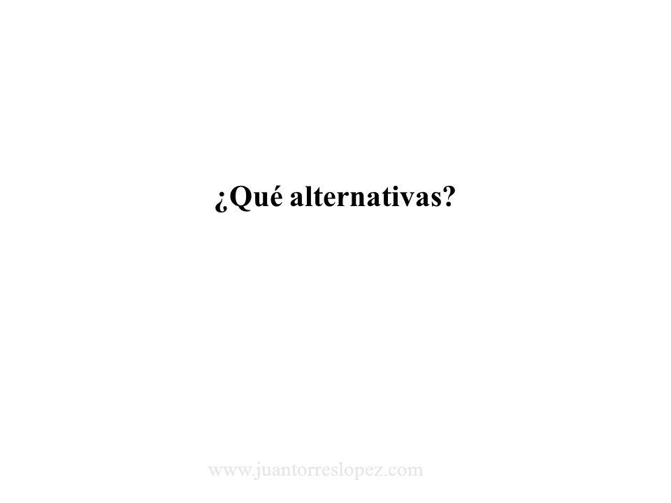 ¿Qué alternativas www.juantorreslopez.com