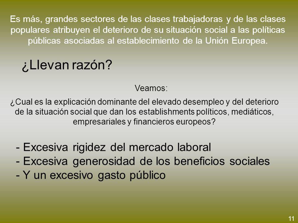 Es más, grandes sectores de las clases trabajadoras y de las clases populares atribuyen el deterioro de su situación social a las políticas públicas a