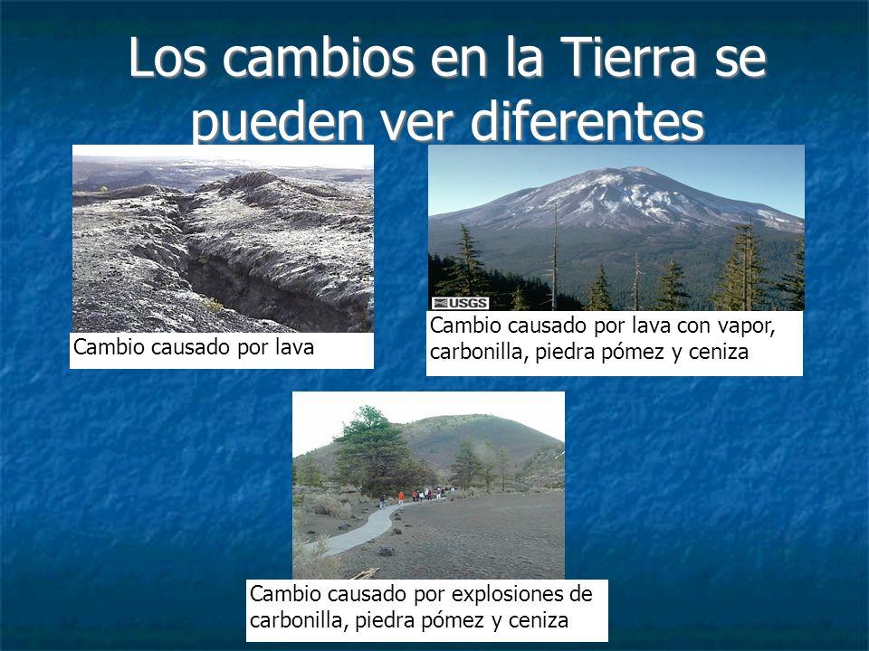 Los terremotos cambian la Tierra Los terremotos son otra manera en que cambia la superficie de la Tierra.