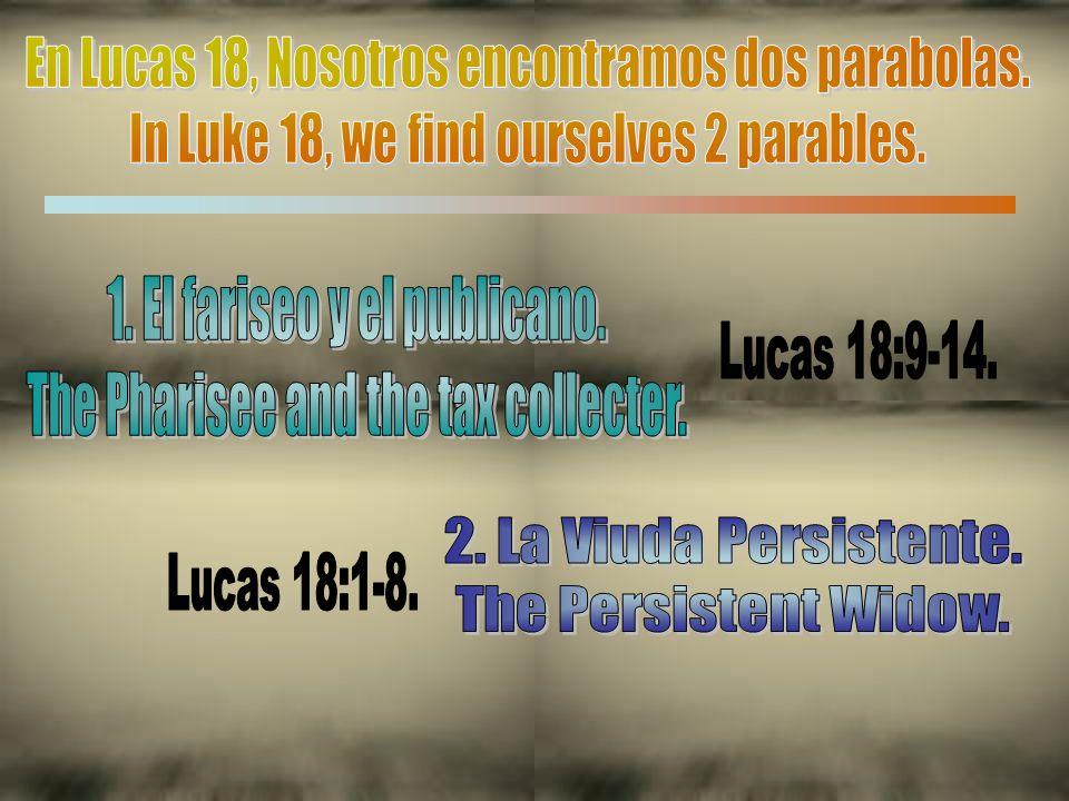 En esta parábola, él nos enseñó sobre la importante que tiene la oración en la vida de cada cristiano fiel y verdadero.