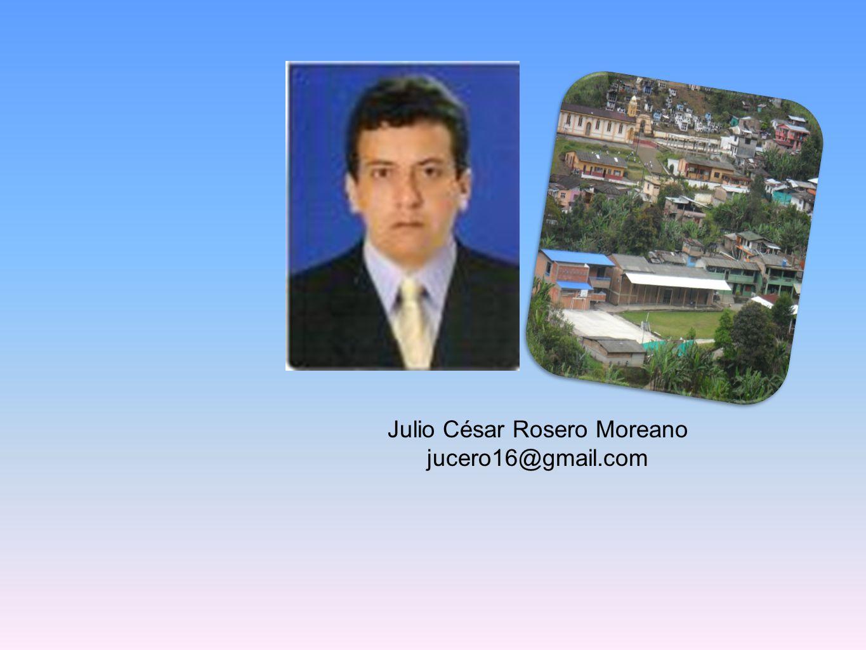Julio César Rosero Moreano jucero16@gmail.com