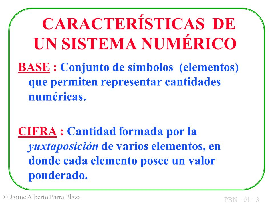 PBN - 01 - 34 © Jaime Alberto Parra Plaza CARACTERES NUMÉRICOS 48 al 57.