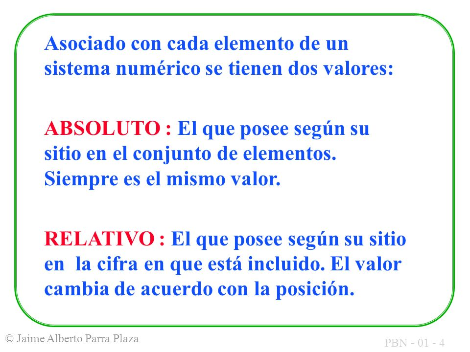 PBN - 01 - 25 © Jaime Alberto Parra Plaza Viéndolo en forma de tabla de verdad: BitABitB AcarreoIBitSumaAcarreoO 00000 00110 01010 01101 10010 10101 11001 11111