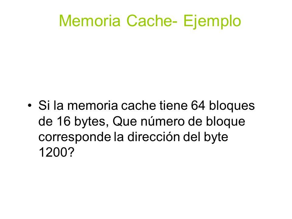Memoria Cache- Ejemplo Completamente Asociativo 0011 0miss0 8 08 0hit08 6miss086 8hit086