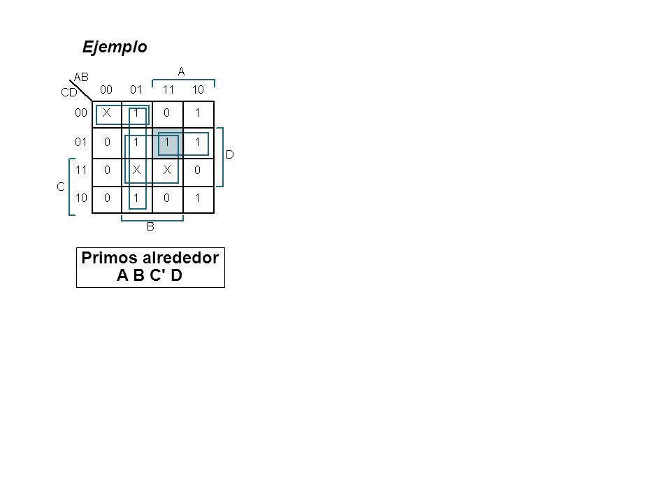 Ejemplo Primos alrededor A B C' D
