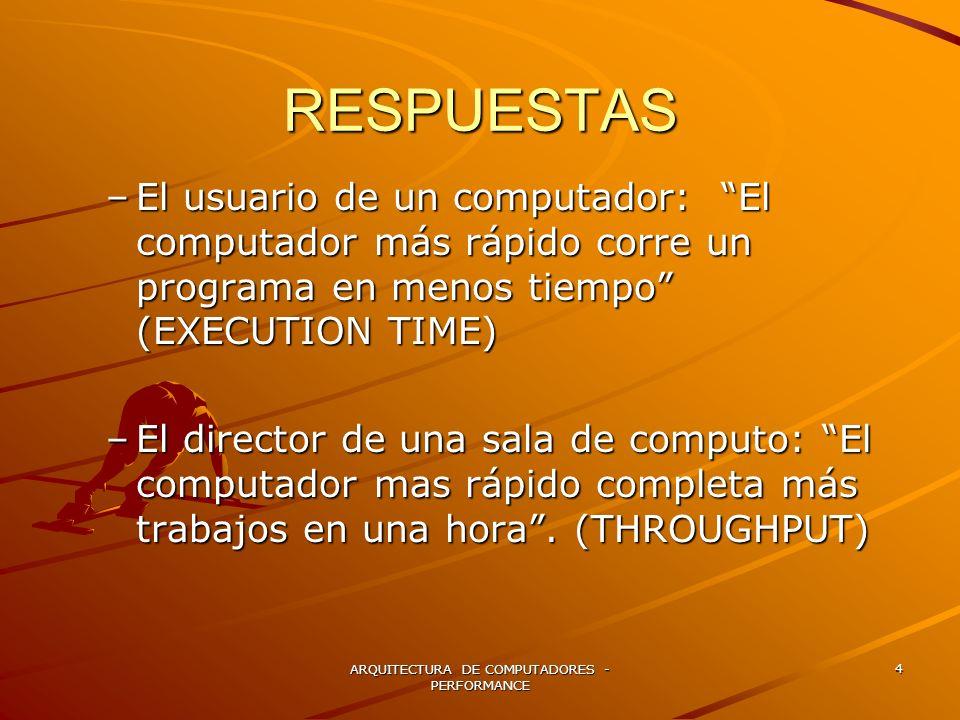 ARQUITECTURA DE COMPUTADORES - PERFORMANCE 5 EJEMPLO !!.