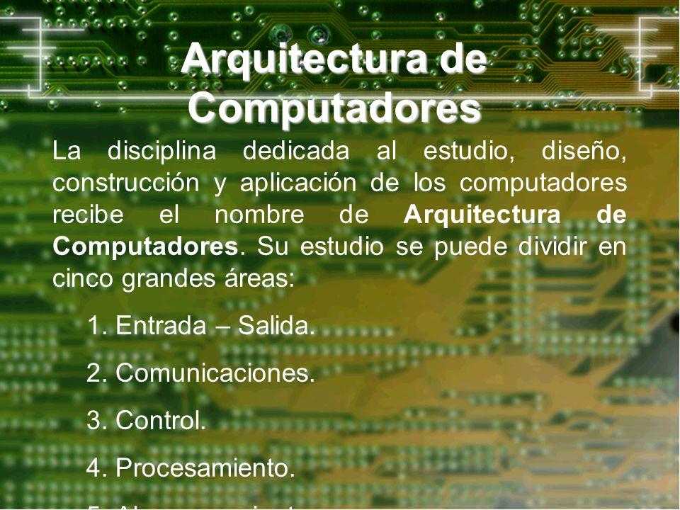 Arquitectura de Computadores La disciplina dedicada al estudio, diseño, construcción y aplicación de los computadores recibe el nombre de Arquitectura
