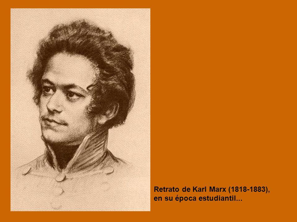 Retrato de Karl Marx (1818-1883), en su época estudiantil...