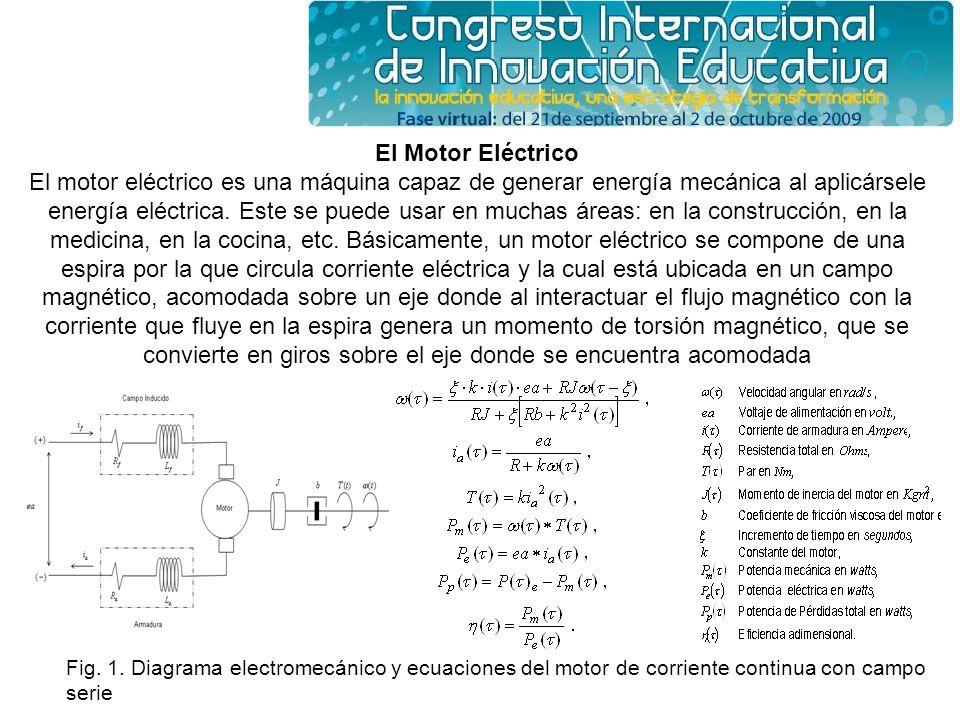 El Motor Eléctrico El motor eléctrico es una máquina capaz de generar energía mecánica al aplicársele energía eléctrica. Este se puede usar en muchas