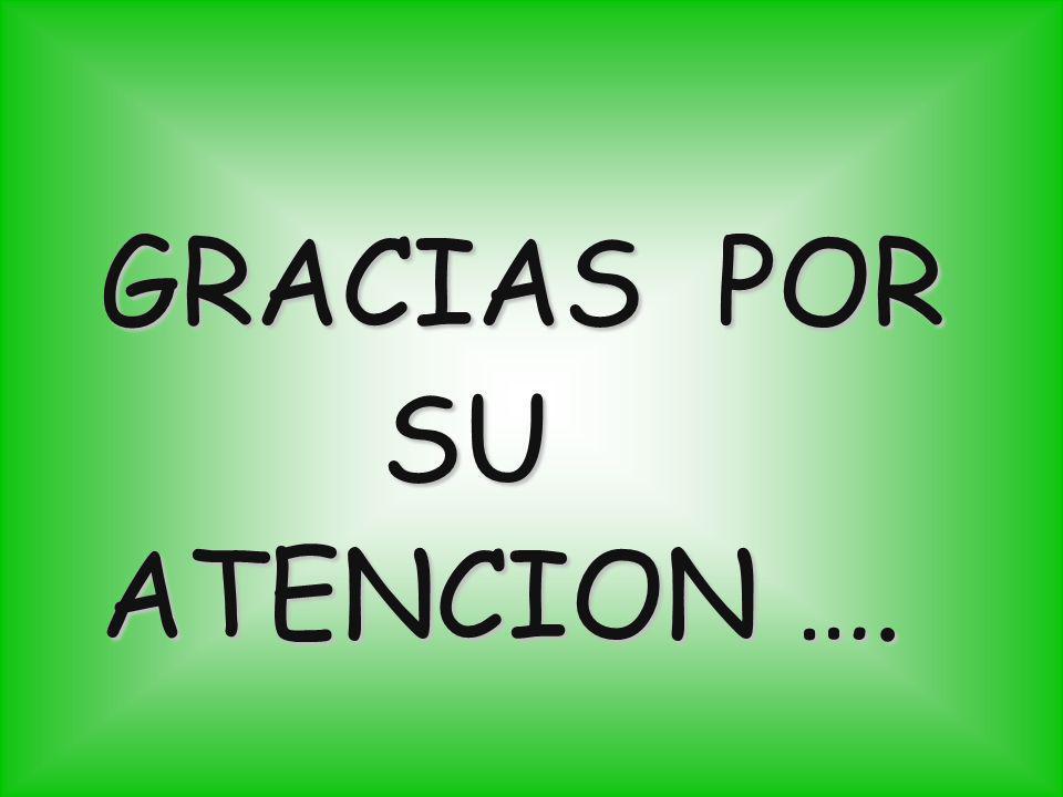 GRACIAS POR GRACIAS POR SU SU ATENCION …. ATENCION ….