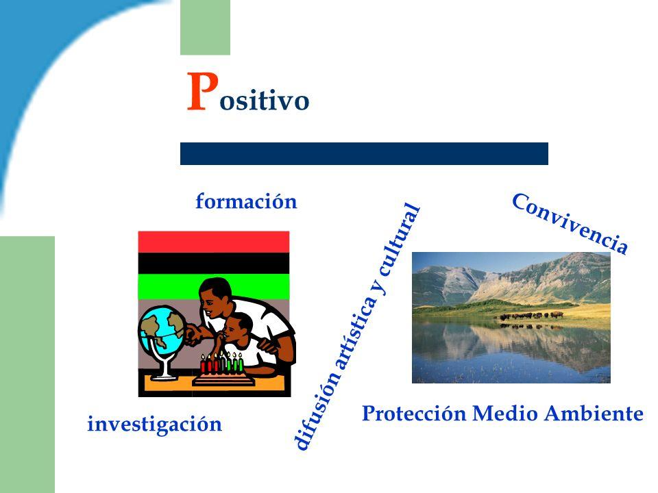 P ositivo Convivencia investigación formación difusión artística y cultural Protección Medio Ambiente