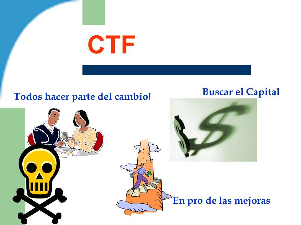 CTF Todos hacer parte del cambio! Buscar el Capital En pro de las mejoras