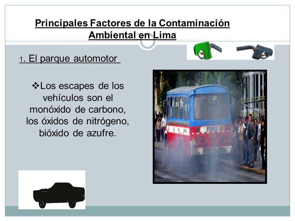 Lima Metropolitana y la contaminación ambiental Los contaminates son transportados hacia el norte y el este de la ciudad, siguiendo un patrón de vient