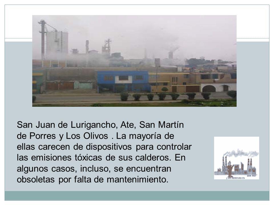 2. Las Fabricas Estas son causantes de la emanación de gases tóxicos que inhalamos a diario.
