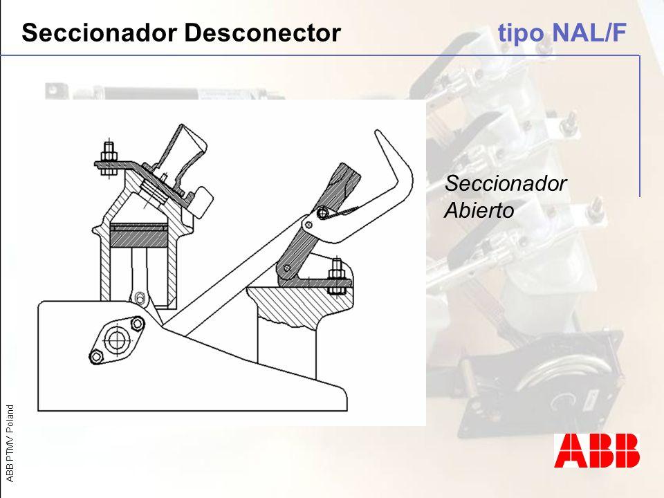 ABB PTMV Poland Seccionador Desconector tipo NAL/F Seccionador Abierto