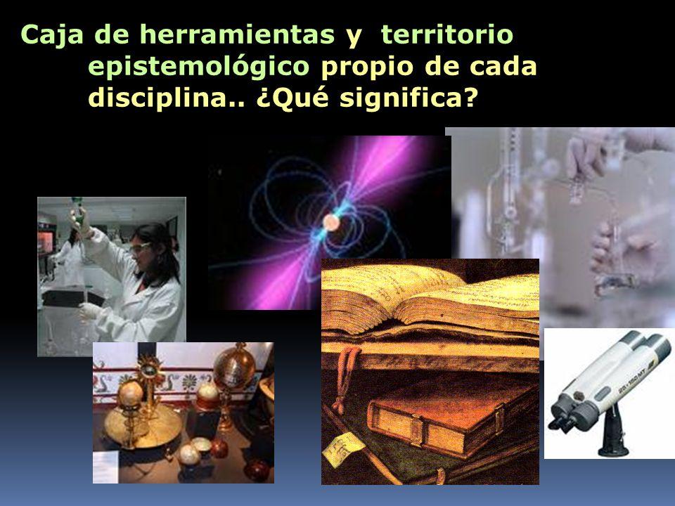 Caja de herramientas y territorio epistemológico propio de cada disciplina.. ¿Qué significa?