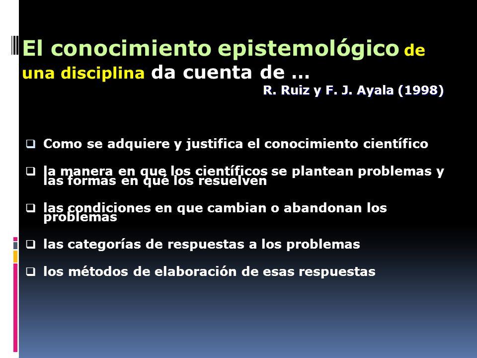 Como se adquiere y justifica el conocimiento científico la manera en que los científicos se plantean problemas y las formas en qué los resuelven las c