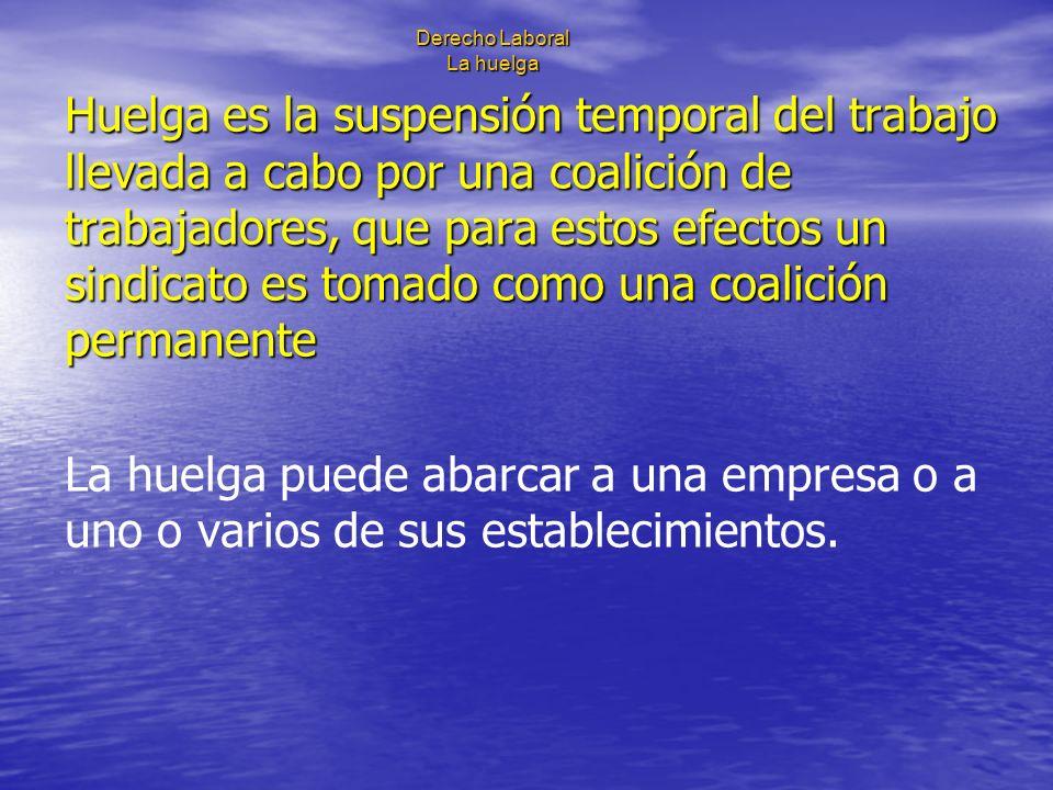 Derecho Laboral La huelga Huelga ilícita: I.