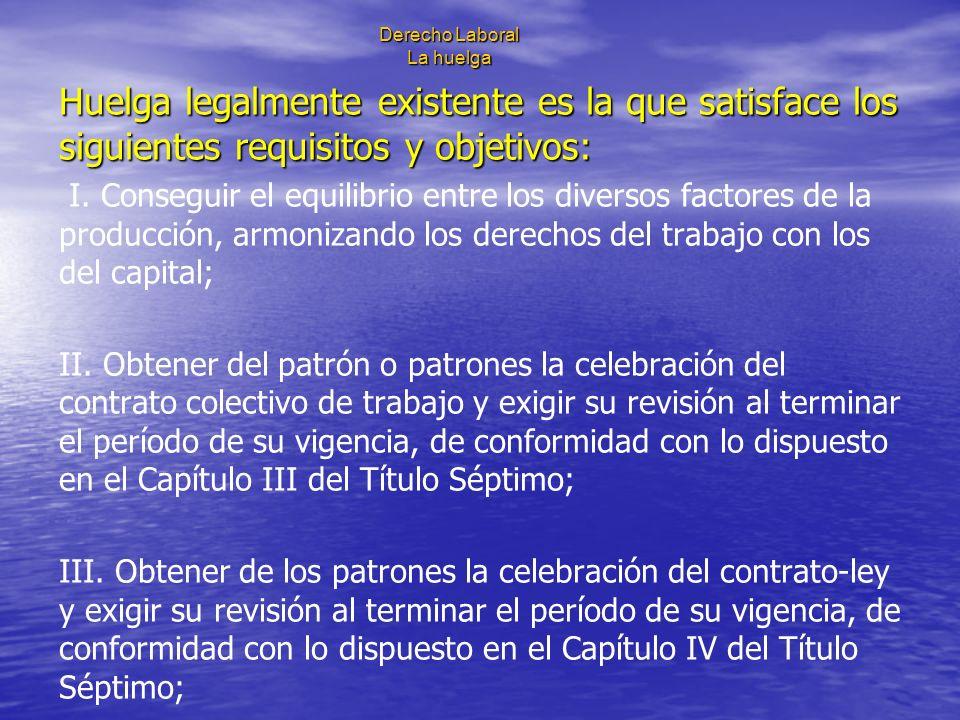 Derecho Laboral La huelga IV.