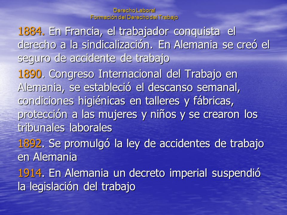 Derecho Laboral Formación del Derecho del Trabajo El cooperativismo.