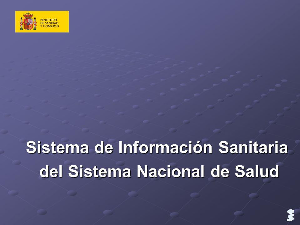 Sistema de Información Sanitaria del Sistema Nacional de Salud del Sistema Nacional de Salud