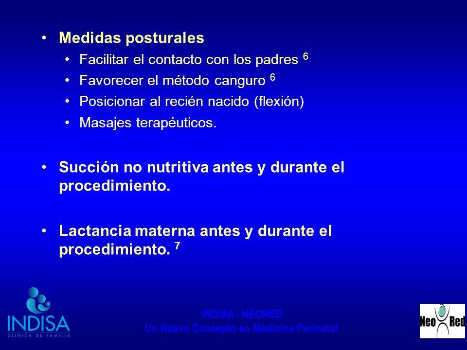 INDISA - NEORED Un Nuevo Concepto en Medicina Perinatal Medidas posturales Facilitar el contacto con los padres 6 Favorecer el método canguro 6 Posici