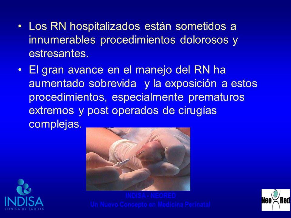 INDISA - NEORED Un Nuevo Concepto en Medicina Perinatal Los RN hospitalizados están sometidos a innumerables procedimientos dolorosos y estresantes. E