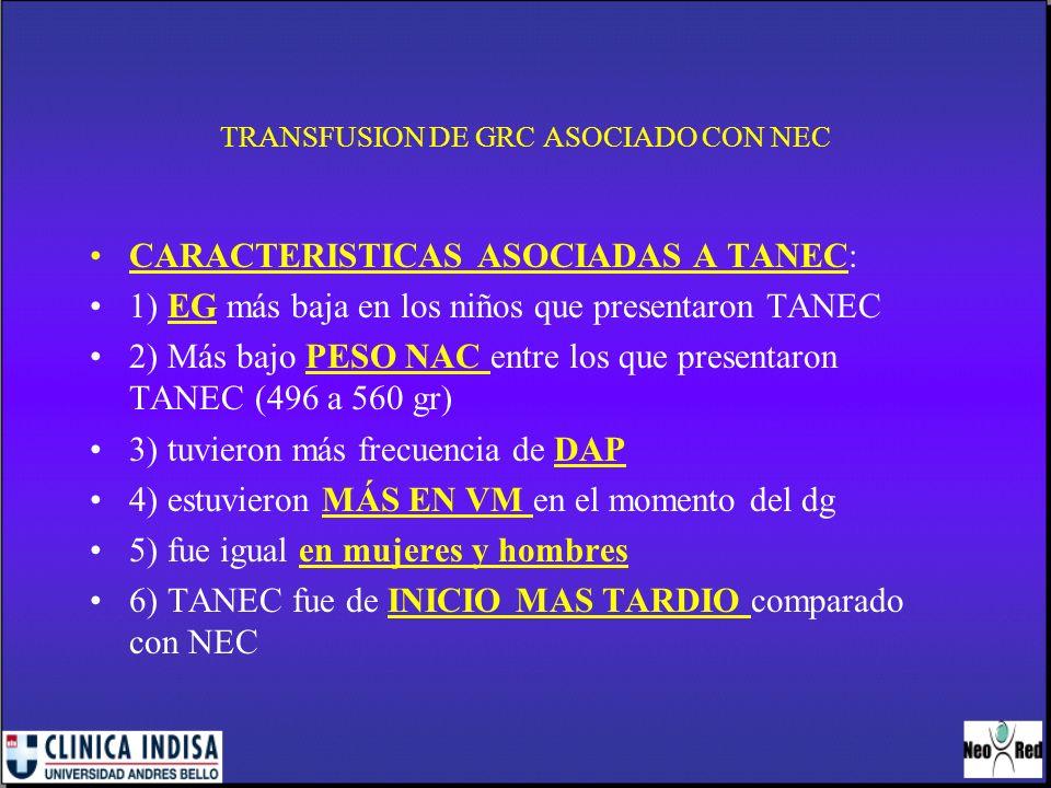 TRANSFUSION GRC ASOCIADA A NEC METAANALIS DE 6 ESTUDIOS: 1.