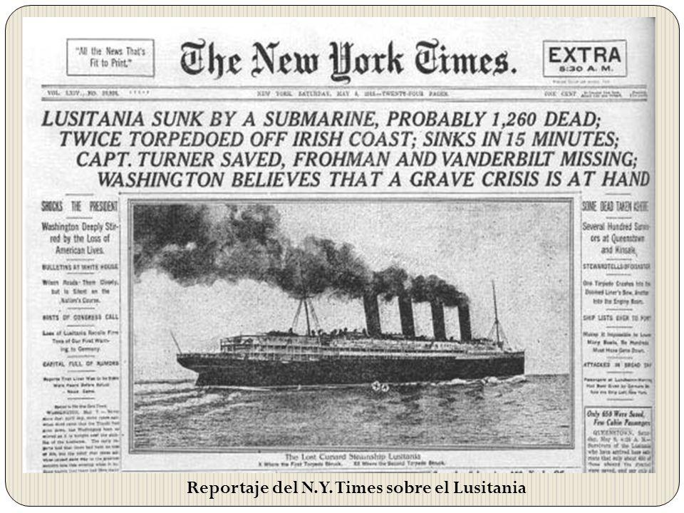 Reportaje del N.Y. Times sobre el Lusitania