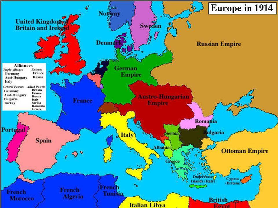 NACIONALISMO El nacionalismo condujo a rivalidades y conflictos entre las naciones europeas.