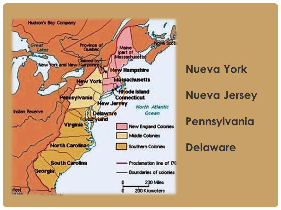 Nueva York Nueva Jersey Pennsylvania Delaware