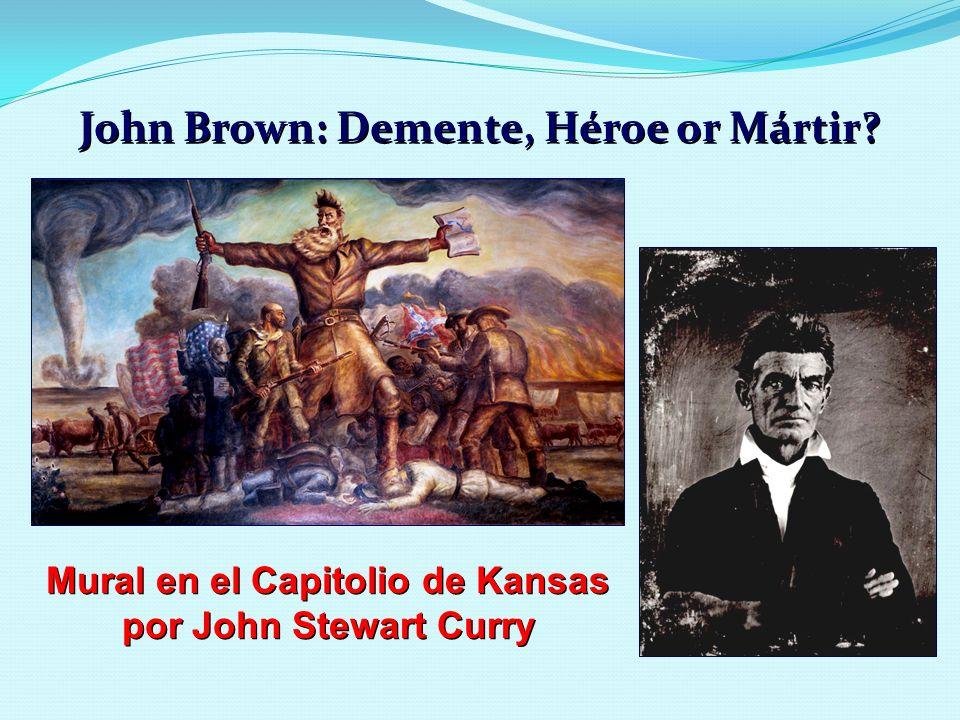 John Brown: Demente, Héroe or Mártir? Mural en el Capitolio de Kansas por John Stewart Curry