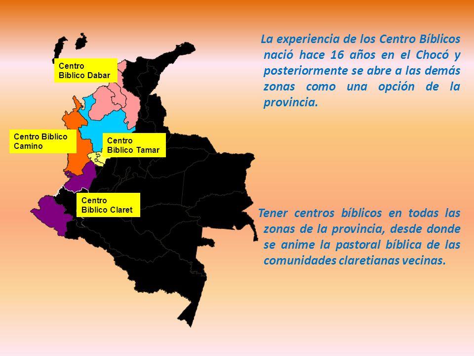 La experiencia de los Centro Bíblicos nació hace 16 años en el Chocó y posteriormente se abre a las demás zonas como una opción de la provincia. Tener