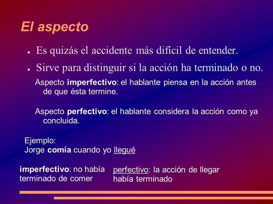La voz Indica la relación entre el sujeto y la acción: Voz activa: el sujeto es quien ejecuta la acción.
