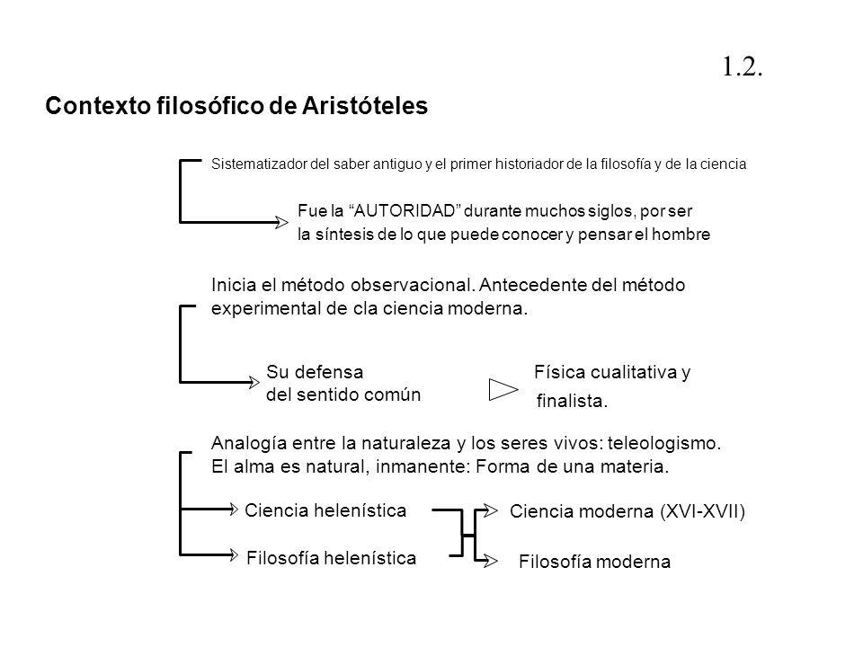 Sistematizador del saber antiguo y el primer historiador de la filosofía y de la ciencia Fue la AUTORIDAD durante muchos siglos, por ser la síntesis d