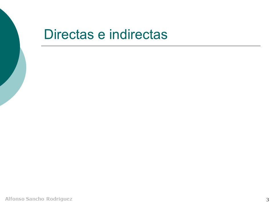Alfonso Sancho Rodríguez 3 Directas e indirectas