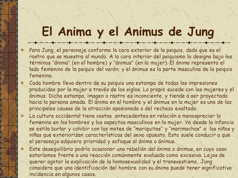 El Anima y el Animus de Jung Para Jung, el personaje conforma la cara exterior de la psiquis, dado que es el rostro que se muestra al mundo. A la cara