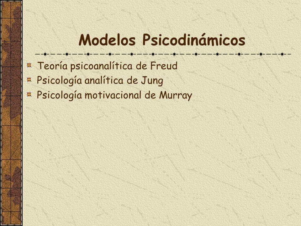 Modelos Psicodinámicos Teoría psicoanalítica de Freud Psicología analítica de Jung Psicología motivacional de Murray