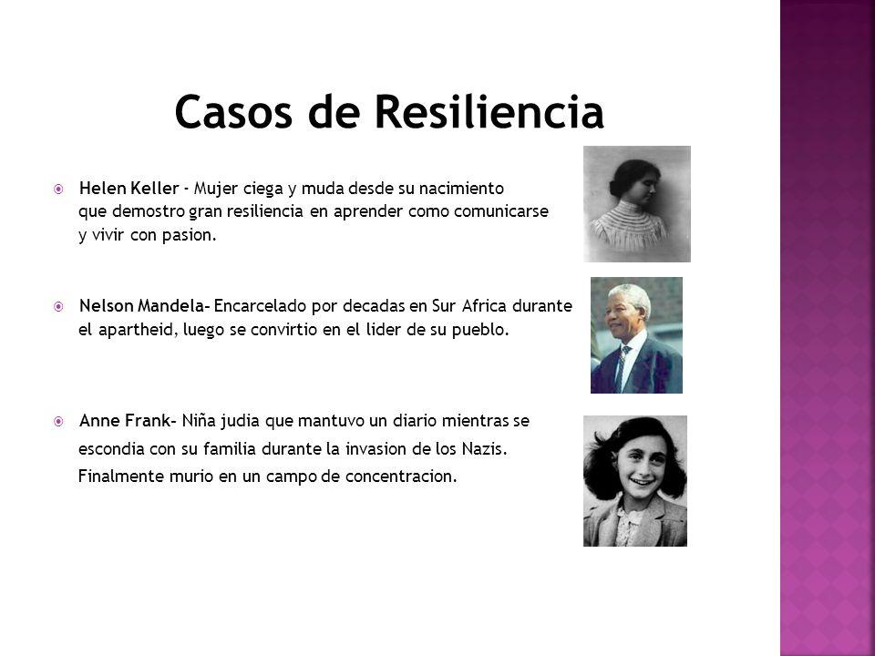 Casos de Resiliencia Helen Keller - Mujer ciega y muda desde su nacimiento que demostro gran resiliencia en aprender como comunicarse y vivir con pasi