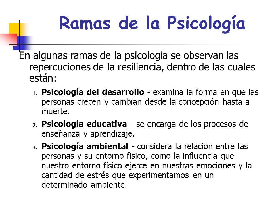 Resiliencia en Psicología Transcultural Estudia la cultura, religión y ambiente que rodea al individuo para así poder determinar como todos esos facto