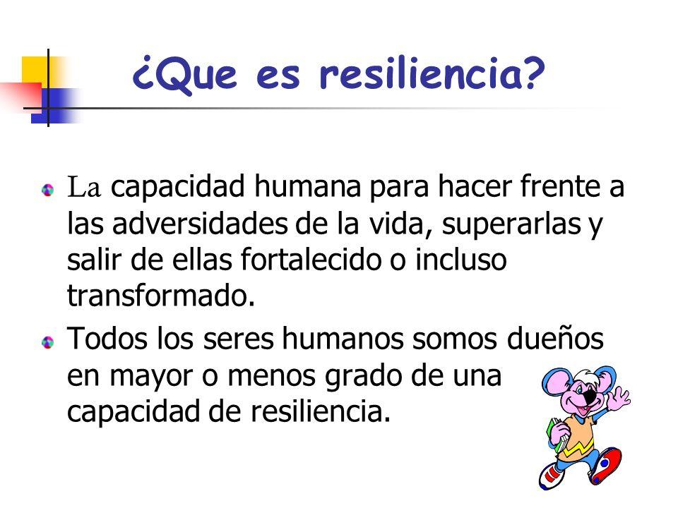 ¿Que es resiliencia.