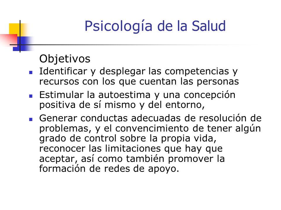 Psicol o gía de la Salud El conjunto de contribuciones específicas educativas, científicas y profesionales de la disciplina de la psicología, la promo