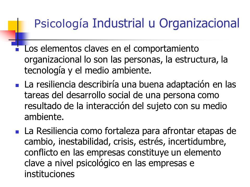 Psicología Industrial u Organizacional La psicología industrial es de gran importancia para el ser humano dentro de la sociedad. El comportamiento org