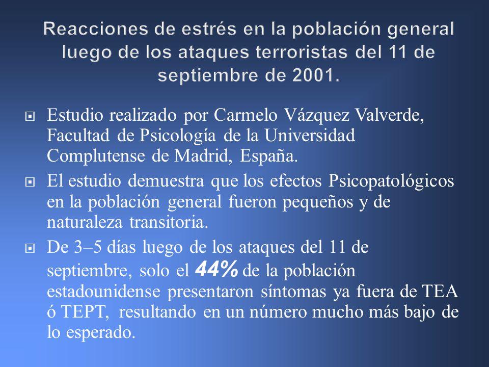 Estudio realizado por Carmelo Vázquez Valverde, Facultad de Psicología de la Universidad Complutense de Madrid, España. El estudio demuestra que los e
