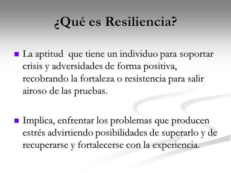 ¿Qué es Resiliencia.